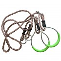 Turnringe mit Seil Metall
