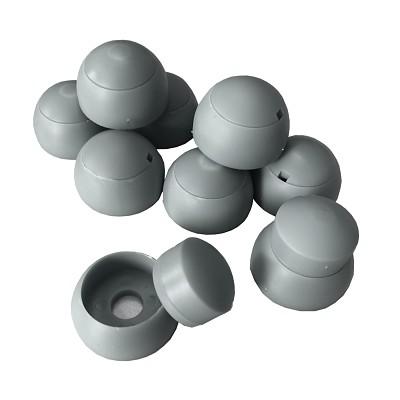 10er Set Abdeckkappen 8-10mm - grau