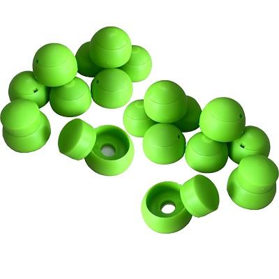 20er Set Abdeckkappen 8-10mm - apfelgrün