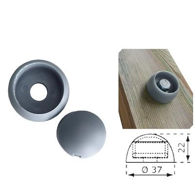 1 Stück Abdeckkappe 8/10mm grau Kunststoff