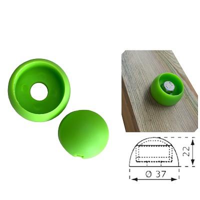 1 Stück Abdeckkappe 8/10mm apfelgrün Kunststoff