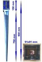Einschlagbodenhülse Pfostenanker Bodenhülse Pfostenträger Einschlaghülsen