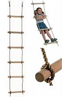 Strickleiter mit 6 Holzsprossen 2m lang