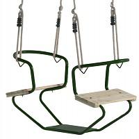 Doppelschaukel Metall Doppelsitzschaukel Gesicht zu Gesicht grün
