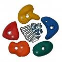 Klettersteine klein, farbig sortiert, 5er Set