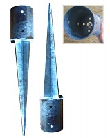 2er-Set Einschlagbodenhülsen Ø101 mm