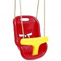 Unterteilter Babysitz rot/gelb
