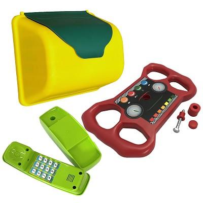 Spielturm-Zubehörset Briefkasten, Telefon, Lenkrad
