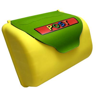 HP-Briefkasten  gelb/apfelgrün