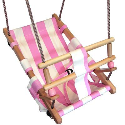 Babyschaukelsitz - pink/weiß