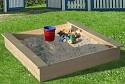 Sandkasten mit Abdeckhaube 120 x 120 cm