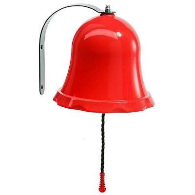 Schiffsglocke Glocke für Spielturm o. Spielhaus rot