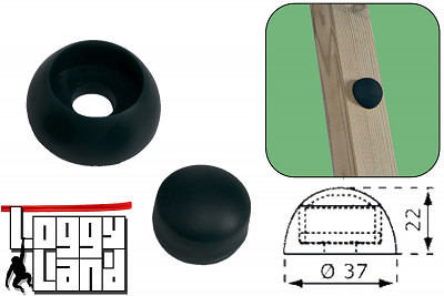 10er Set Abdeckkappen 8-10mm - schwarz