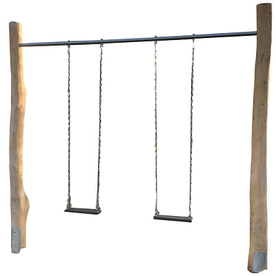 Schaukelstange 3m, aus Ø 50 mm Stahlrohr für Doppelschaukel -grau