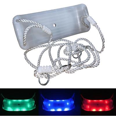 Schaukelsitz aus Kunststoff mit mehrfarbigen LED Lichteffekten, nachtleuchtend