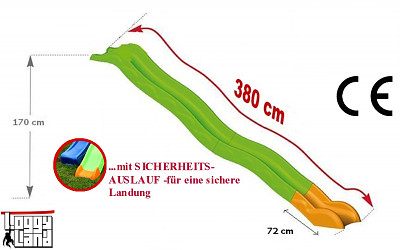 Hangrutsche 3,80m Podesthöhe 1,70m