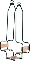Metall-Doppelsitzschaukel Gesicht zu Gesicht - Doppelschaukel für Ø 10 cm Rundholz