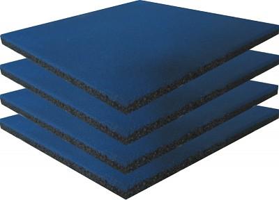4er Set Spielplatz Fallschutzmatten blau