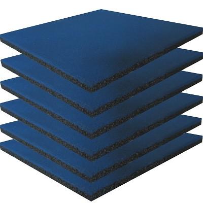 6er Set Spielplatz Fallschutzmatten blau
