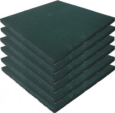 6er Set Spielplatz Fallschutzmatten grün