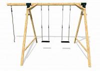 BOUNCE Spielplatz Set - 2 Schaukeln und Kletterseil