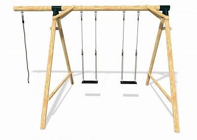 Spielplatz Set BOUNCE - 2 Schaukeln mit Kletterseil
