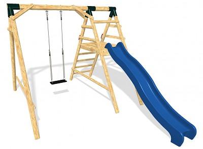 MEDIUM Spielplatz Set - Schaukel und Rutsche