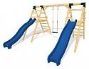 SPEED Spielplatz Set - 2 Rutschen mit einer Schaukel
