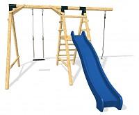 ULTIMATE Spielplatz Set - Rutsche, Kletterseil und Schaukel